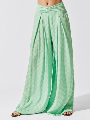 PatBO Satin Dot Wide Leg Pant