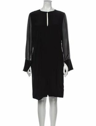 Givenchy Silk Knee-Length Dress Black