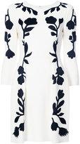 Oscar de la Renta floral print mini dress