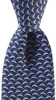 Roundtree & Yorke Trademark Dolphin Tail Traditional Silk Tie