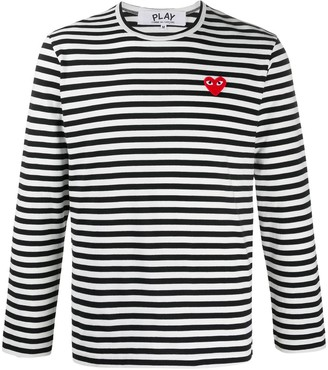 Comme des Garcons Striped Long-Sleeve Top