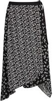 Rag & Bone Floral-print Asymmetric Midi Skirt