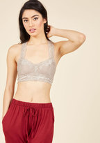 ModCloth Breath and Balance Bralette in Pebble in M