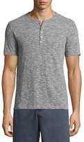 John Varvatos Mélange Short-Sleeve Henley T-Shirt