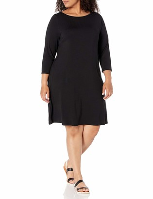 Amazon Essentials Plus Size 3/4 Sleeve Boatneck Dress