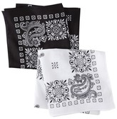 Merona Men's 2pk Bandana Handkerchief - Assorted Colors