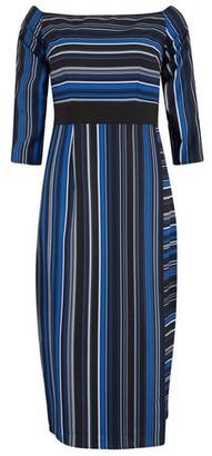 Dorothy Perkins Womens **Paper Dolls Navy Long Sleeve Skirt Dress