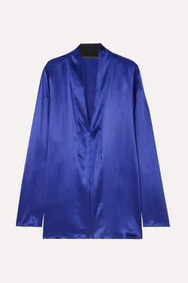 Haider Ackermann Silk-satin Shirt - Blue