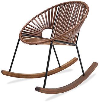 Mexa Ixtapa Rocking Chair - Tobacco Leather black/tobacco
