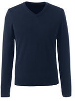 Classic Men's Tall Merino V-neck Sweater-Toffee Heather
