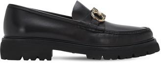 Salvatore Ferragamo Bleecker Two Tone Logo Leather Loafers