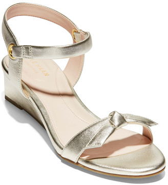Cole Haan Halsey 40 Leather Wedge Sandal
