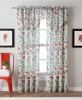 """CHF Botanical Garden 51"""" x 95"""" Crushed Voile Tailored Window Panel Bedding"""