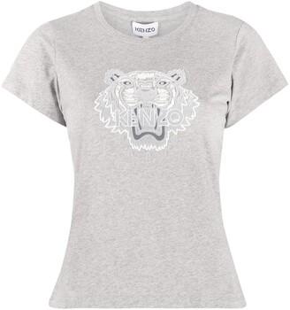 Kenzo Tiger flock slim-fit T-shirt