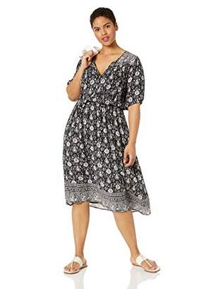 Lucky Brand Women's Plus Size Printed Peasant Dress