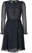 Valentino Black Polka Dot Sheer Dress