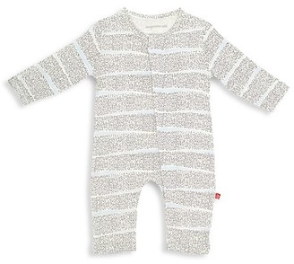 Magnetic Me Baby's Pebble Beach Stripe Magnetic Coverall