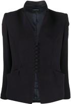 Emporio Armani collarless fitted blazer