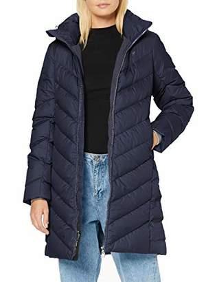 G Star Women's Whistler Slim Down Hooded Long Coat, Sartho Blue 6067, 10 (Size: )