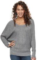 JLO by Jennifer Lopez Women's Ribbed Dolman Sweater