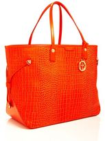 Henri Bendel West 57th Xl E/W Croc Tote
