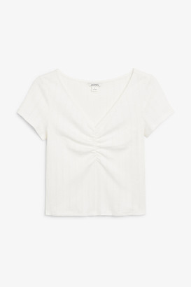 Monki Ruched front top