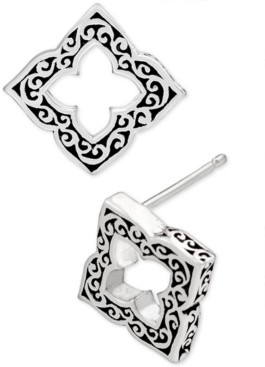 Lois Hill Filigree Cut-Out Stud Earrings in Sterling Silver