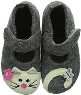 Living Kitzbühel Baby Girls' Babyballerina Katze Walking Baby Shoes Grey Size: 4.5 UK
