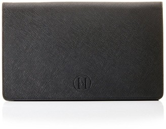 Ha Designs Personalised Initial Leather Black Clutch Bag - Black