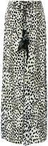 Roberto Cavalli leopard palazzo pants - women - Silk/Cotton/Viscose - 40