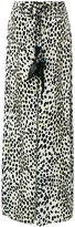 Roberto Cavalli leopard palazzo pants - women - Silk/Cotton/Viscose - 42