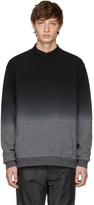 Robert Geller Black and Grey Dip-dyed Sweatshirt
