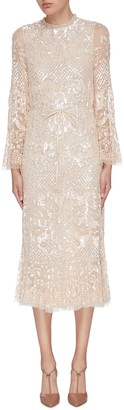 Needle & Thread 'Snowdrop' sequin embellished embroidered dress