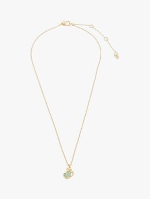 Kate Spade Monkey Pendant Necklace, Gold/Green