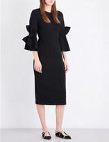 Roksanda Lavete bow-sleeve stretch-crepe midi dress