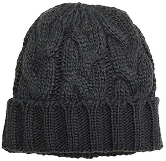 Hat Attack Fisherman Cable Hat (Charcoal) Beanies
