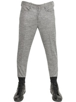 Neil Barrett Houndstooth Wool Jersey Trousers