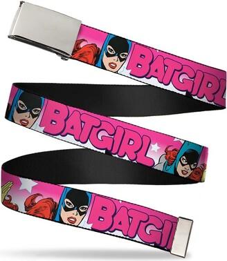 """Buckle Down Buckle-Down Men's Buckle-Down Web Belt Batgirl 1.5"""""""