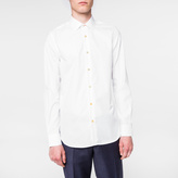 Paul Smith Men's Slim-Fit White Cotton-Twill Shirt