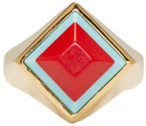 Fendi Gold Rainbow Ring