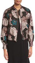 Co Floral Brocade Zip Bomber Jacket, Multi