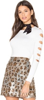 Central Park West Palm Springs Cut Out Sweater in White. - size XS (also in )