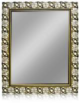 Welforth Jeweled Mirror (Black and Gray with Clear Rhinestones) DT-41