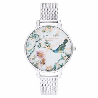 Olivia Burton Womens Analogue Quartz Watch with Stainless Steel Strap OB16EG147