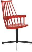 Kartell Comback Swivel Chair - Orangy Red