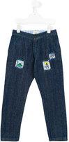 Fendi patch jeans - kids - Cotton - 4 yrs