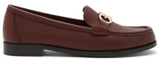 Salvatore Ferragamo Gancio Bit Leather Loafers - Burgundy