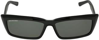 Balenciaga Tip 0047s Rectangle Acetate Sunglasses