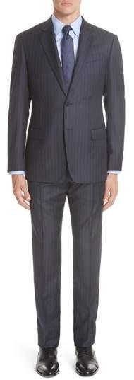Emporio Armani G-Line Trim Fit Stripe Wool Suit