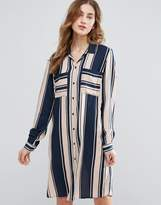 Vila Mixed Stripe Shirt Dress